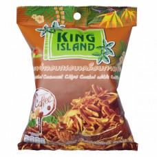 Кокосовые чипсы KING ISLAND в кофейной глазури, 40г