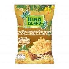 Кокосовые чипсы с карамелью KING ISLAND, 40гр