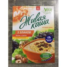 """Живая каша """"Vita"""" 5 злаков быстрого приготовления с изюмом и орехами, витаминами"""