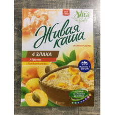 "Живая каша ""Vita"" 100%""4 злака с абрикосом 210 гр (6шт35гр)"