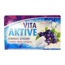 Витаактив жевательная резинка без сахара Черная смородина 16 г
