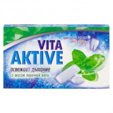 Витаактив жевательная резинка без сахара Перечная мята 16 г