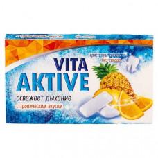 Vita Aktive жевательная резинка без сахара Тропические фрукты 16 гр
