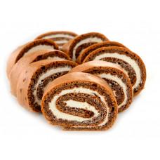 Fit&Sweet рулет с шоколадно-творожной начинкой