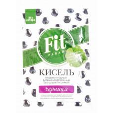 Овсяный кисель витаминизированный быстрорастворимый на стевии Черника Fit Parad, 50 г