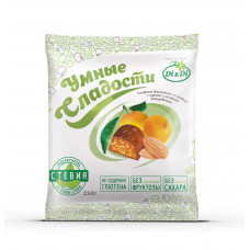 """Конфеты """"Умные сладости"""" с курагой и миндалем, глазированные"""