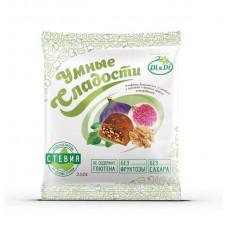 """Конфеты """"Умные сладости"""" с инжиром и грецким орехом, глазированные"""