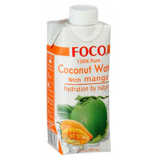 Вода Foco кокосовая со вкусом манго, 330 мл