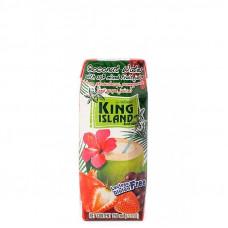 Кокосовая вода KING ISLAND с фруктовым соком (клубника, гранат, виноград), 250 мл.