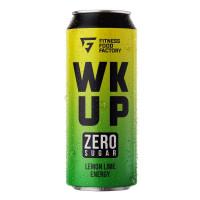 Тонизирующий безалкогольный напиток WK UP, 500 мл (Fitness Food Factory) Лимон-лайм