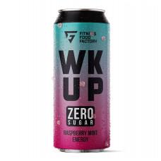 Тонизирующий безалкогольный напиток WK UP, 500 мл (Fitness Food Factory) Малина-Мята