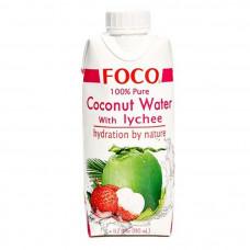 """Вода кокосовая """"с соком личи"""" """"Foco"""" 330 мл"""