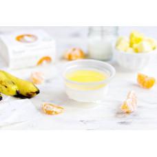 Банановая панна-котта с соусом из мандарина и ананаса 110 гр. 0 calories