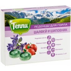 """Леденцы для горла Теппи """"Шалфей и шиповник"""" Радоград"""