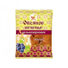 Печенье овсяное цельнозерновое с изюмом, 300г., Дивинка