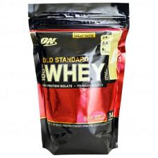 Optimum Nutrition 100% Whey protein Gold standard  (454 гр.) ванильное мороженое, клубника